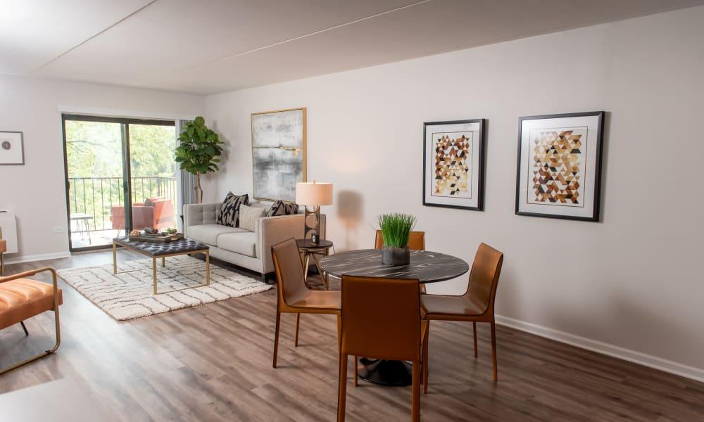 Spacious floor plan at Pine Hill Apartments in Wheeling, Illinois