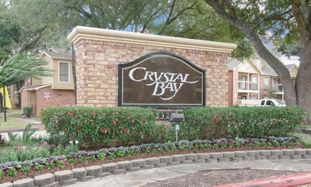 Crystal Bay sign in Webster, Texas