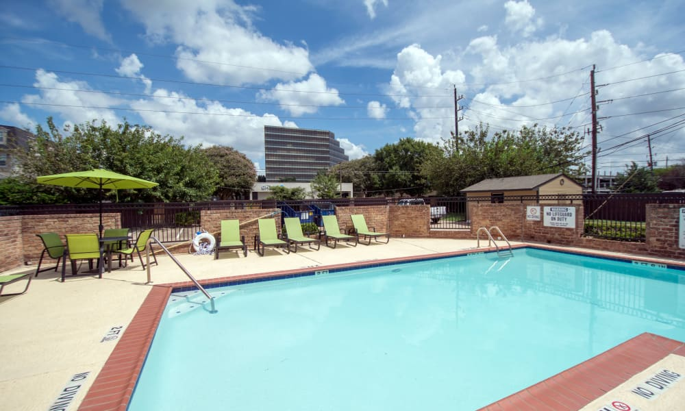 Resident pool #2 at Stonecrossing of Westchase in Houston, Texas.