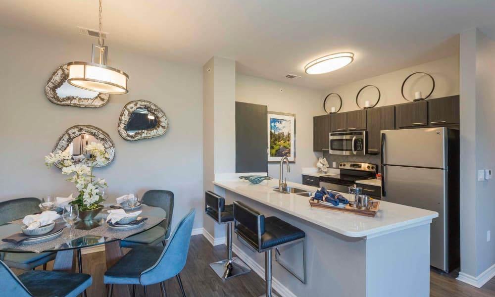 Modern kitchen at Peaks at Woodmen Apartments