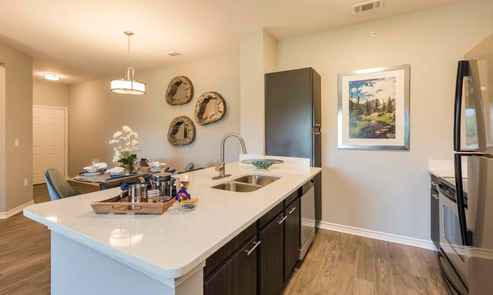 Kitchen at Peaks at Woodmen Apartments