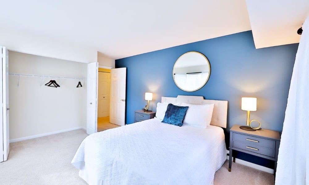 Bedroom at Mount Vernon Square Apartments in Alexandria, Virginia