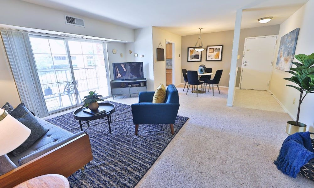 Open floor plan at Mount Vernon Square Apartments in Alexandria, Virginia