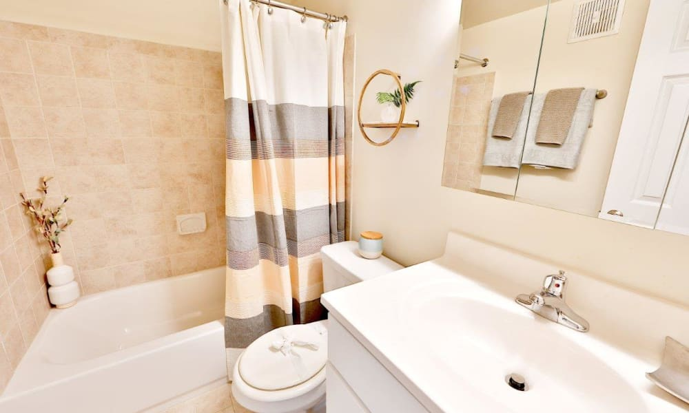 Bathroom at Mount Vernon Square Apartments in Alexandria, Virginia