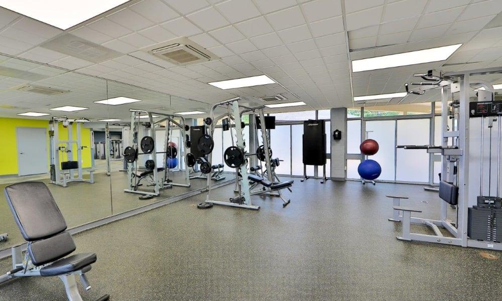 Fitness center at Mount Vernon Square Apartments in Alexandria, Virginia