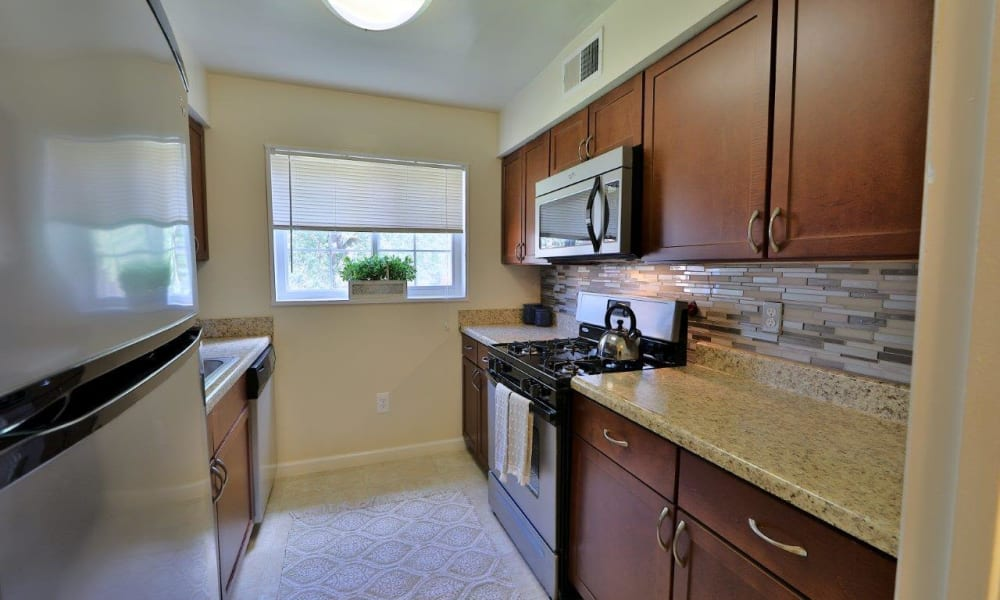 Model Kitchen at Mount Vernon Square Apartments in Alexandria, Virginia