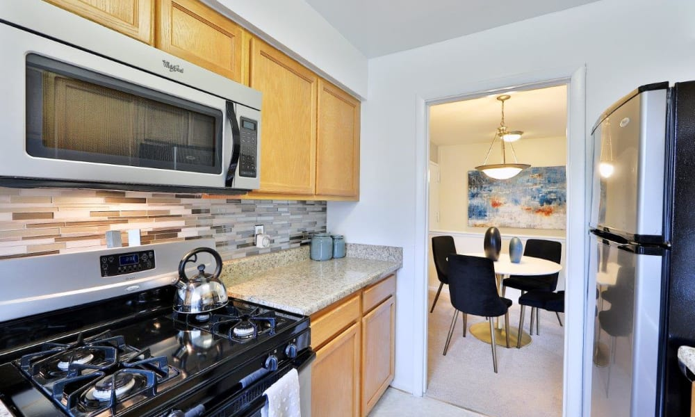 Kitchen at Mount Vernon Square Apartments in Alexandria, Virginia
