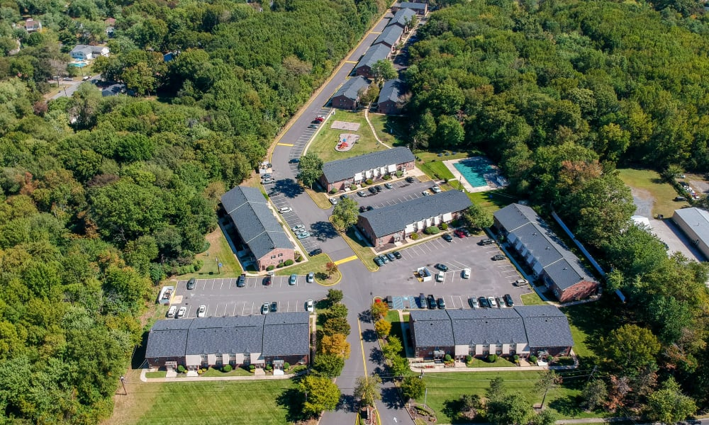Aerial View of Nieuw Amsterdam Apartment Homes in Marlton, New Jersey