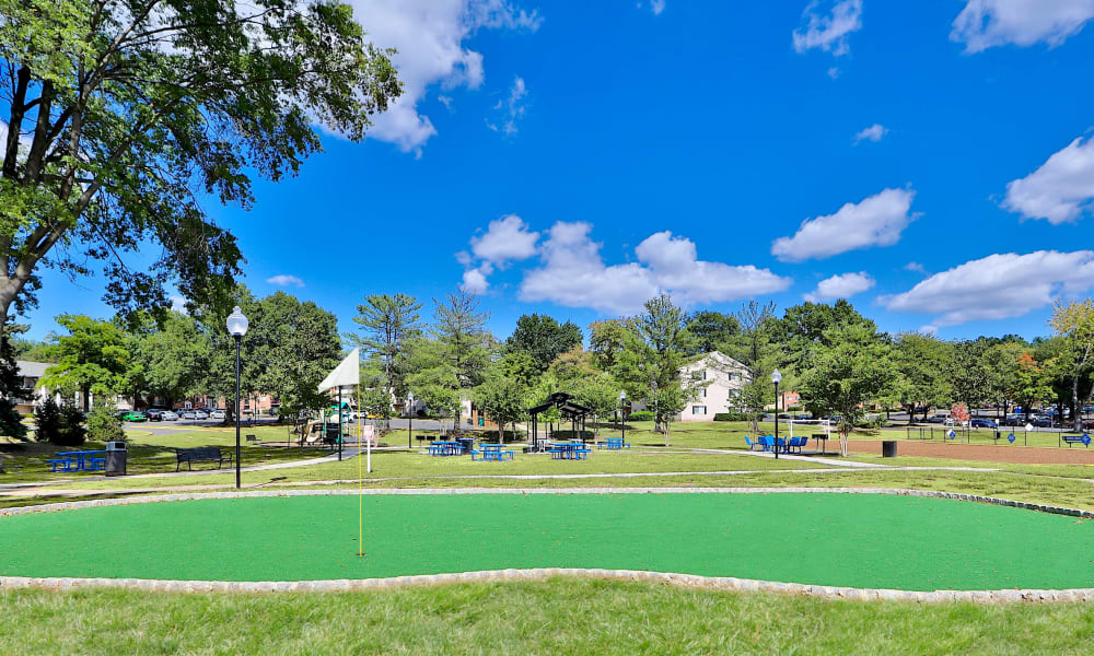 Enjoy Apartments with a Putting Green at Mount Vernon Square Apartments in Alexandria, Virginia