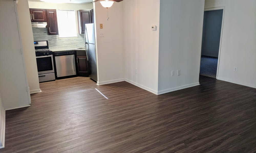 Living Room & Kitchen Area at Apartments in Norristown, Pennsylvania