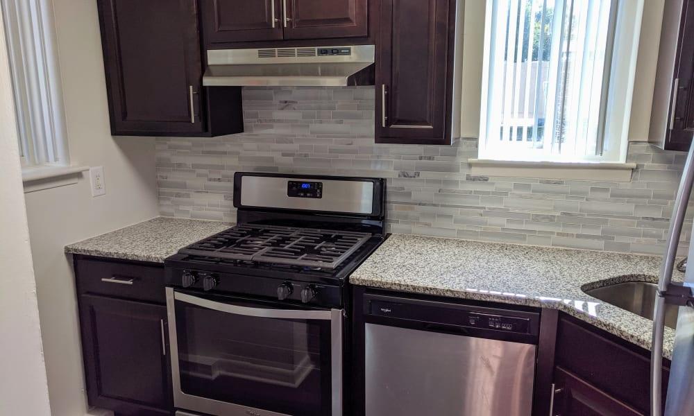 Kitchen at Apartments in Norristown, Pennsylvania