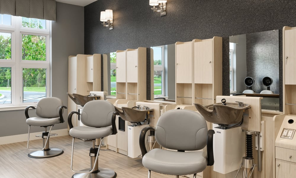 Hair salon at Anthology of Simsbury in Simsbury, Connecticut