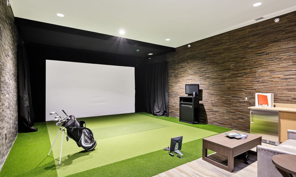Indoor golf put at  Anthology of Simsbury in Simsbury, Connecticut
