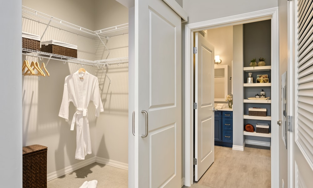 Large closet in room at Anthology of Simsbury in Simsbury, Connecticut