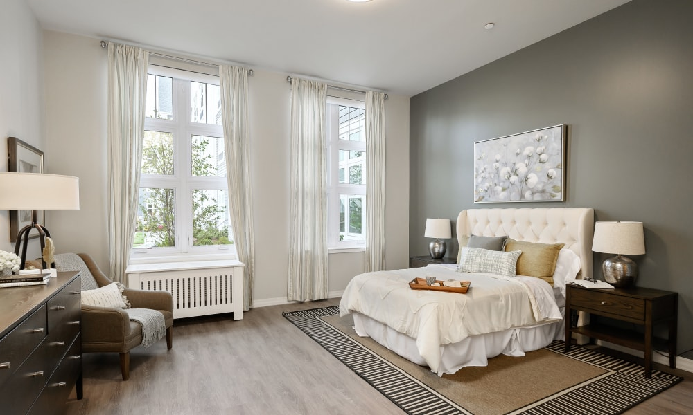 natural lighting bedroom at Anthology of Simsbury in Simsbury, Connecticut