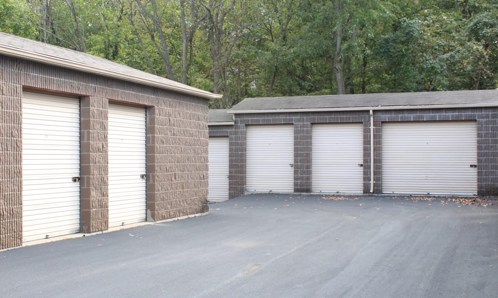 Outdoor storage units at A Shur-Lock Self Storage in Lake St. Louis, Missouri