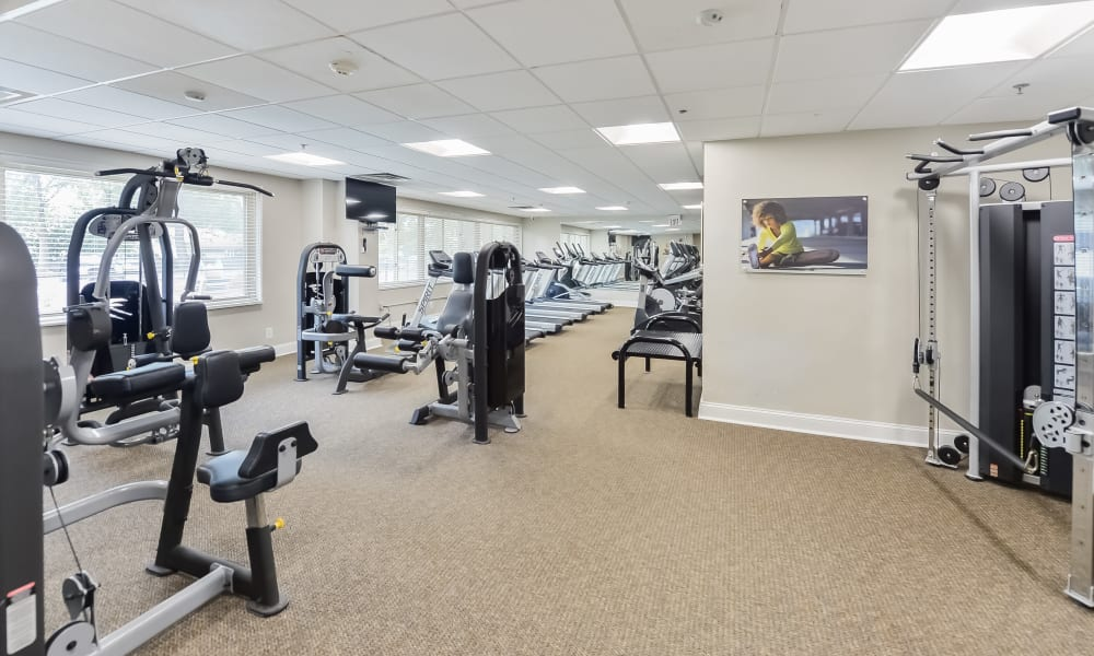 Fitness Center at Towers of Windsor Park Apartment Homes in Cherry Hill, New Jersey