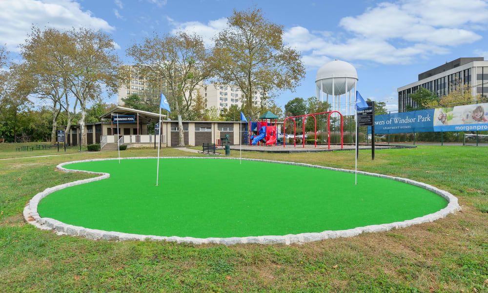 Putting green at Towers of Windsor Park Apartment Homes in Cherry Hill, NJ