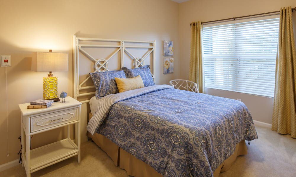 Resident bedroom at Keystone Place at Terra Bella in Land O' Lakes, Florida.