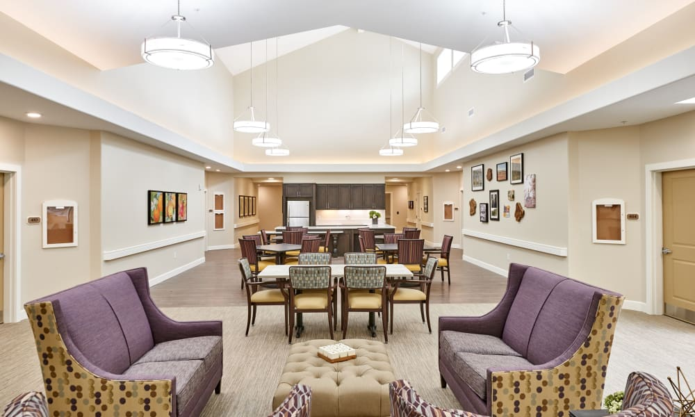 Lobby at Battle Creek Memory Care in Salem, Oregon