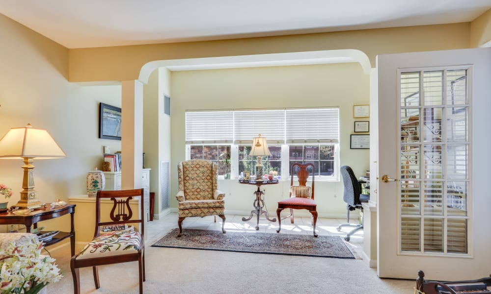 Spacious floor plans with large windows at Keystone Place at Legacy Ridge in Westminster, Colorado.