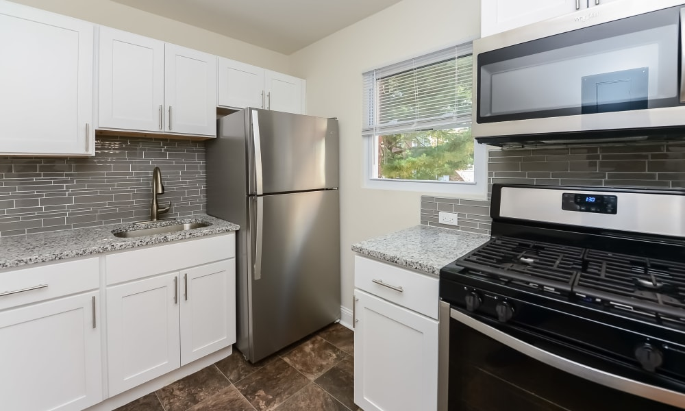 Kitchen at apartments in Elmwood Park, New Jersey