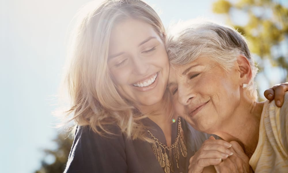 Mother and Daughter at Forest Creek Memory Care in Overland Park, Kansas