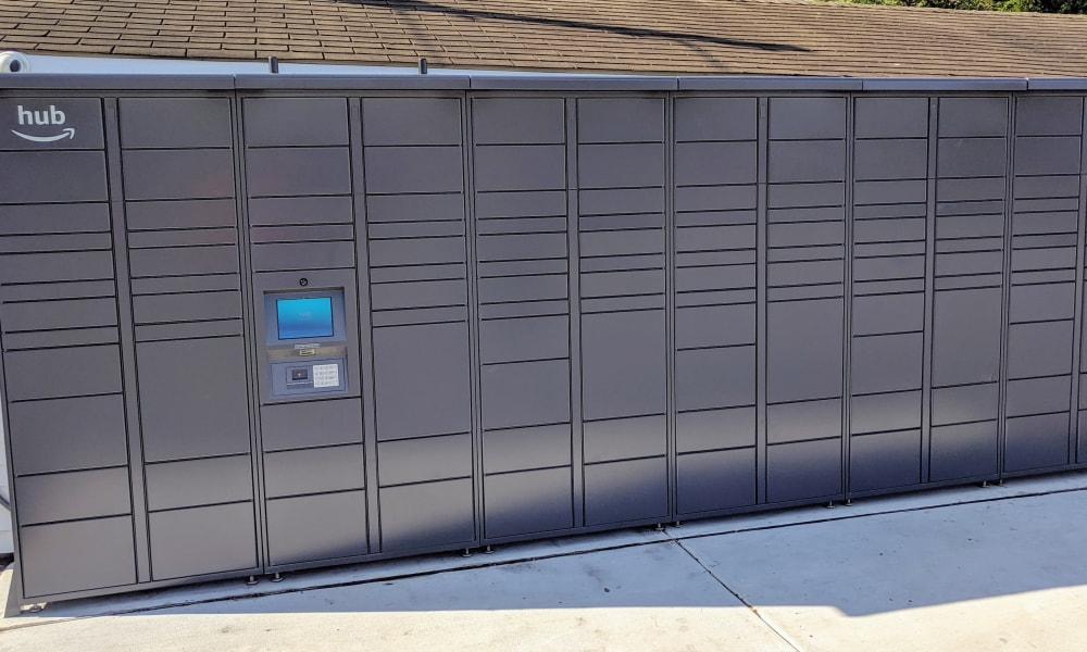 Amazon Package Lockers at Curren Terrace in Norristown, Pennsylvania