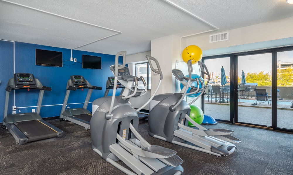 Fitness Center at The Parker @ Seventh in Des Moines, Iowa