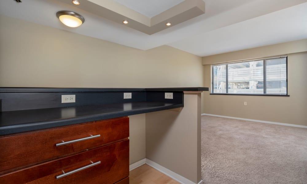 desk in room at The Parker @ Seventh