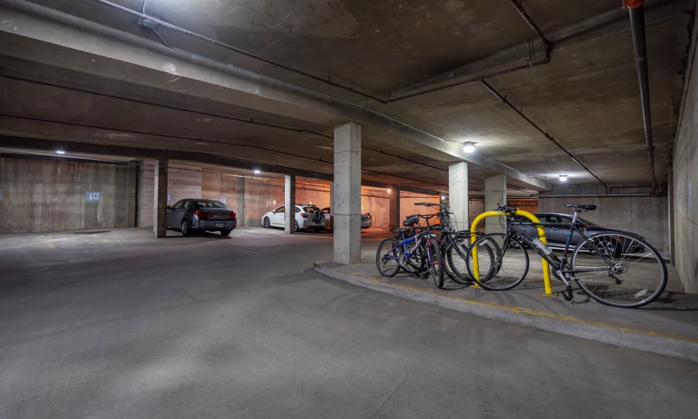 Parking garage at The Parker @ Seventh in Des Moines, Iowa
