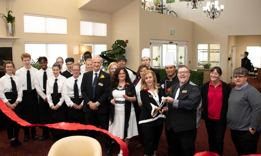 Ribbon cutting ceremony at The Bradley Gracious Retirement Living in Kanata, Ontario