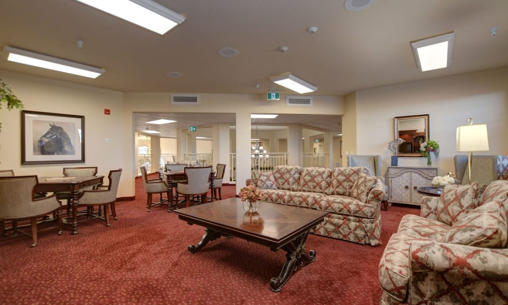 TV room at The Bradley Gracious Retirement Living in Kanata, Ontario
