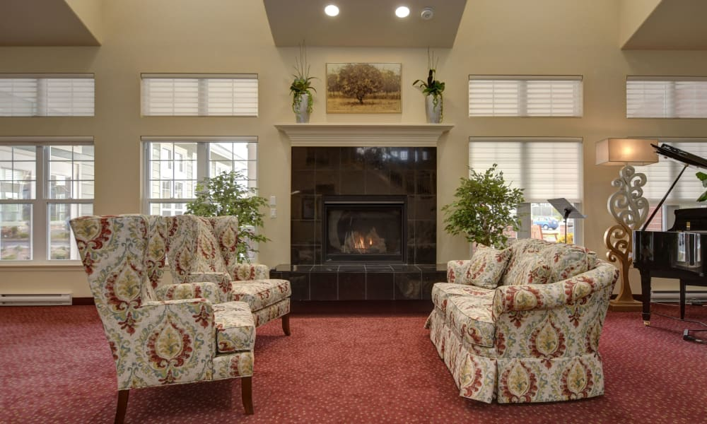 A cozy seating area at The Bradley Gracious Retirement Living in Kanata, Ontario