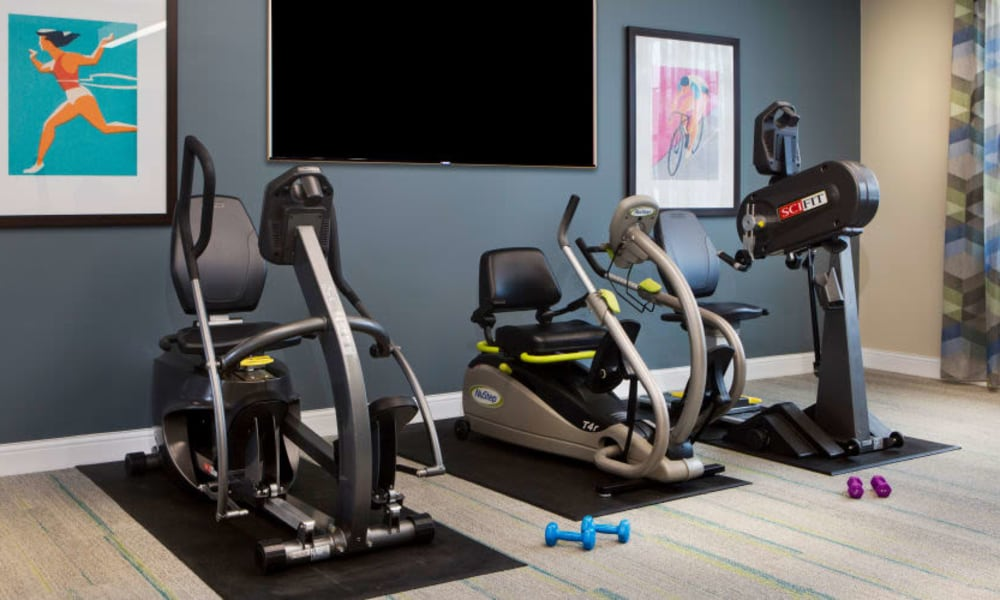 Exercise studio at Anthology of Burlington Creek in Kansas City, Missouri