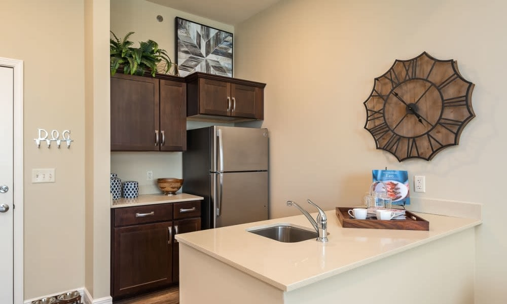 kitchenette in a home at Anthology of Burlington Creek in Kansas City, Missouri
