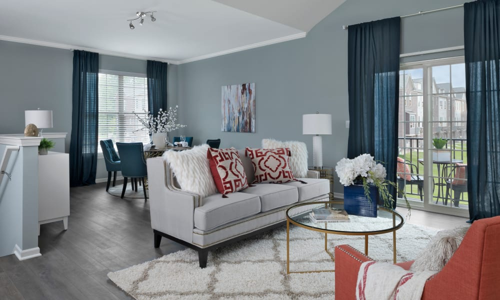 Living Room at Park West in Canton, Michigan