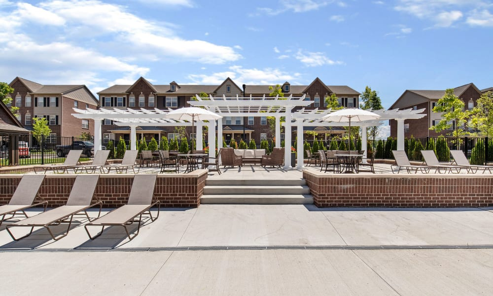 Outdoor seating available at Park West in Canton, Michigan