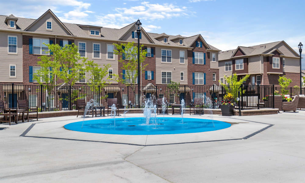 Fountain at Park West in Canton, Michigan