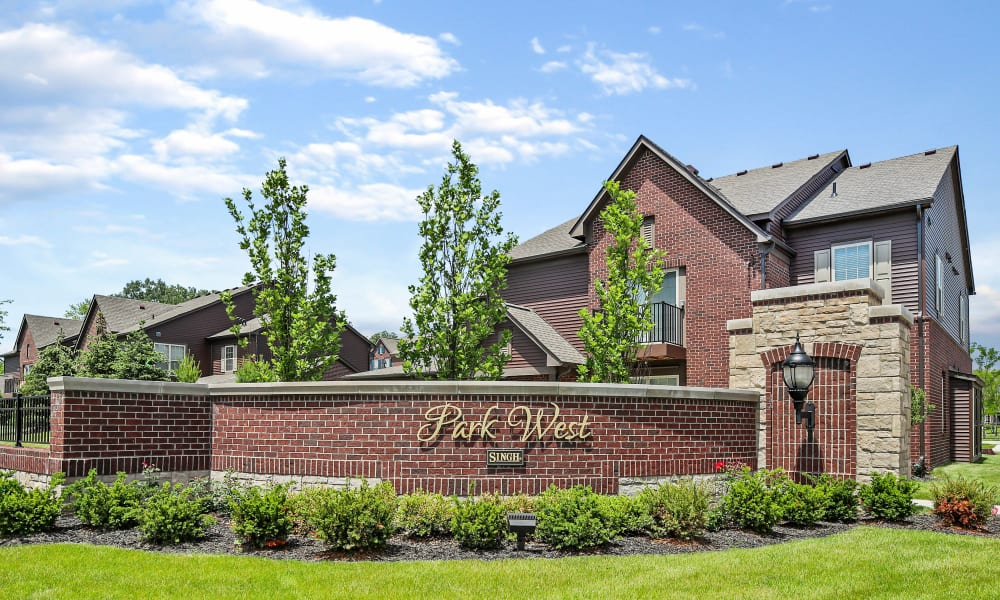 Location Sign at Apartments in Canton, Michigan
