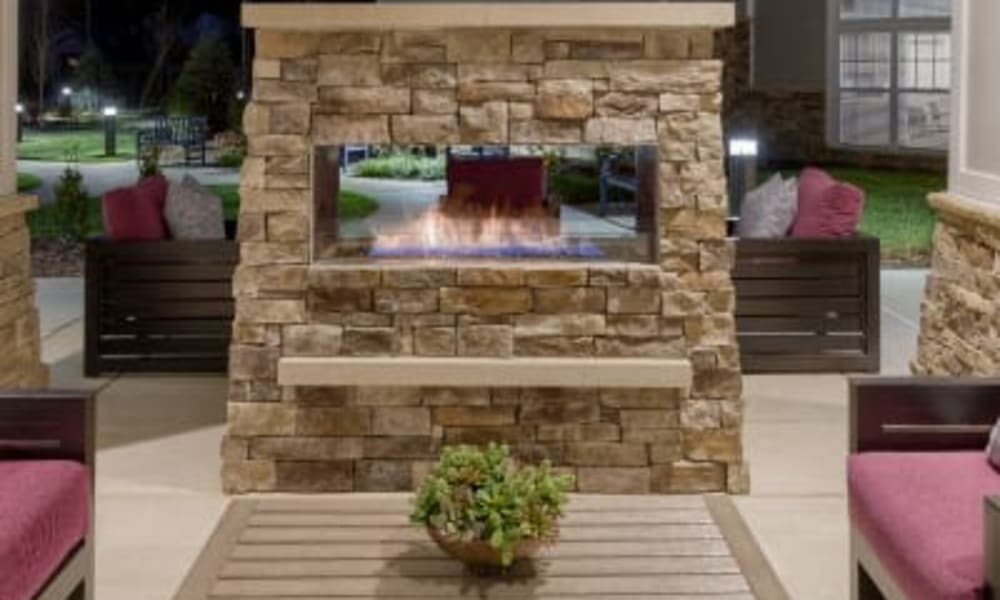 Outdoor fire pit at Anthology of Meridian Hills in Indianapolis, Indiana