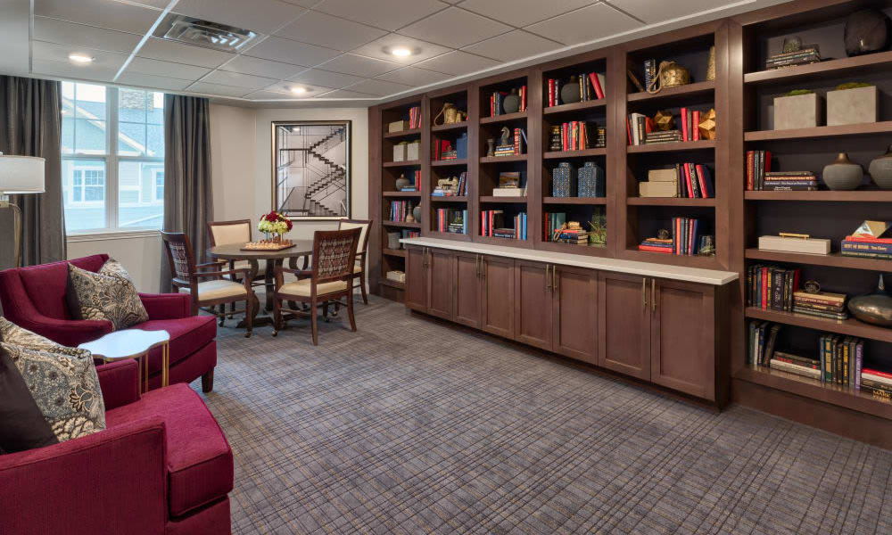 Library at Anthology of Meridian Hills in Indianapolis, Indiana
