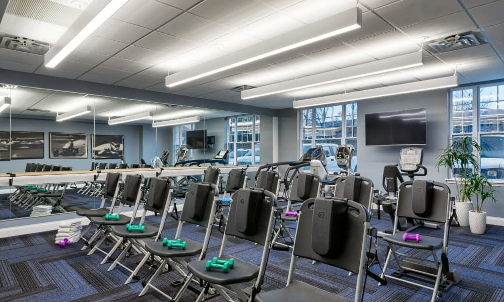 Resident fitness center at Anthology of Meridian Hills in Indianapolis, Indiana