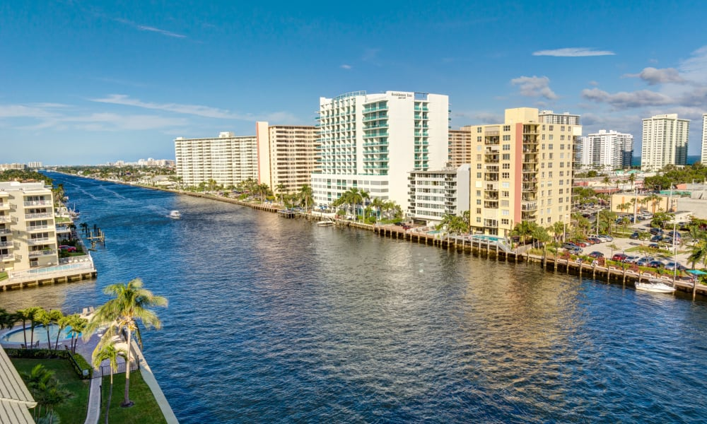 View of the water at The Meridian at Waterways in Fort Lauderdale, Florida