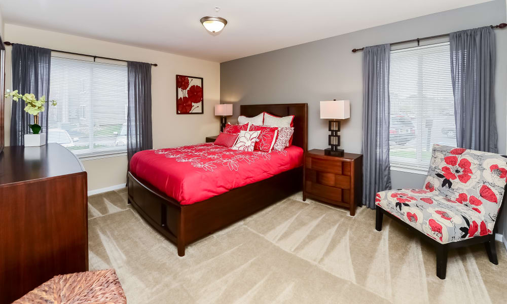 Bedroom at Fox Run Apartments & Townhomes in Bear, DE
