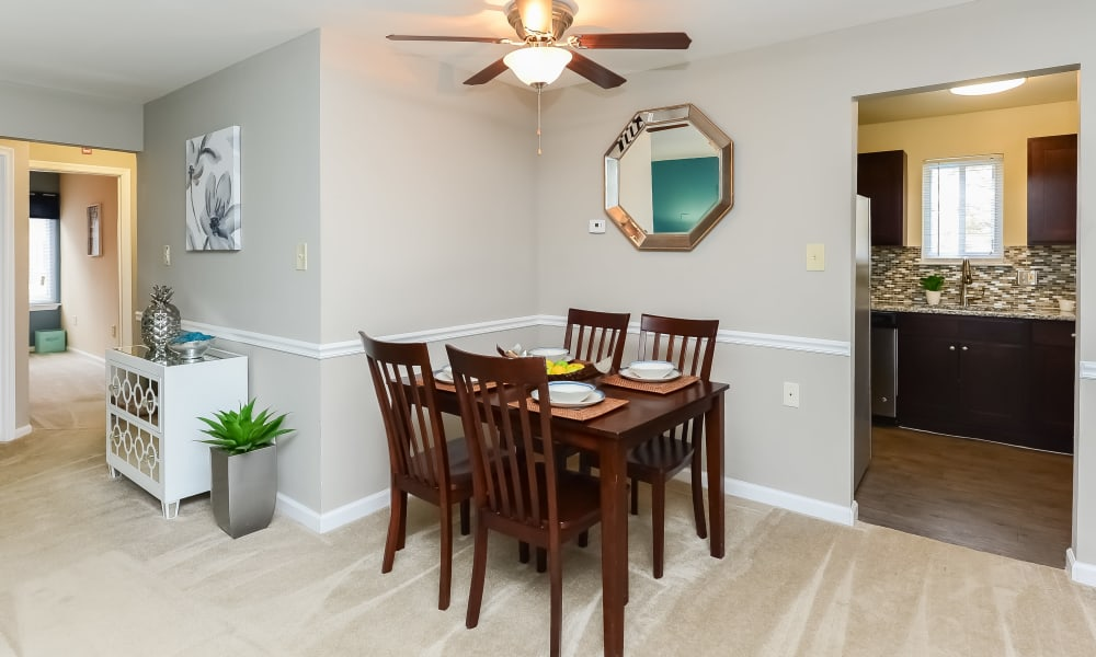 Dining room at Fox Run Apartments & Townhomes in Bear, DE