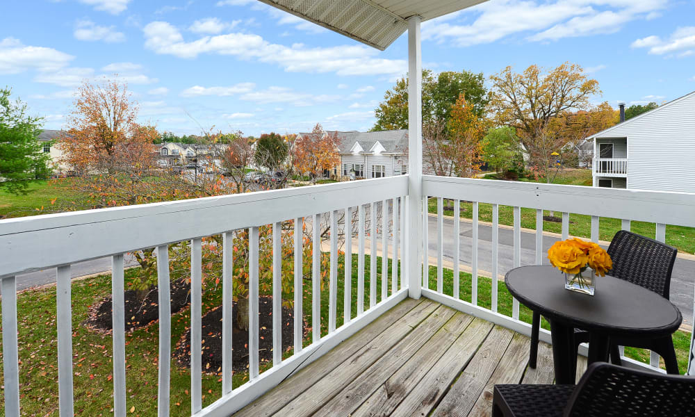 Large deck at Fox Run Apartments & Townhomes in Bear, DE