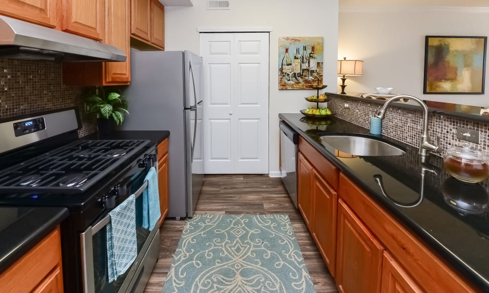Kitchen at Bishop's View Apartments & Townhomes in Cherry Hill, New Jersey