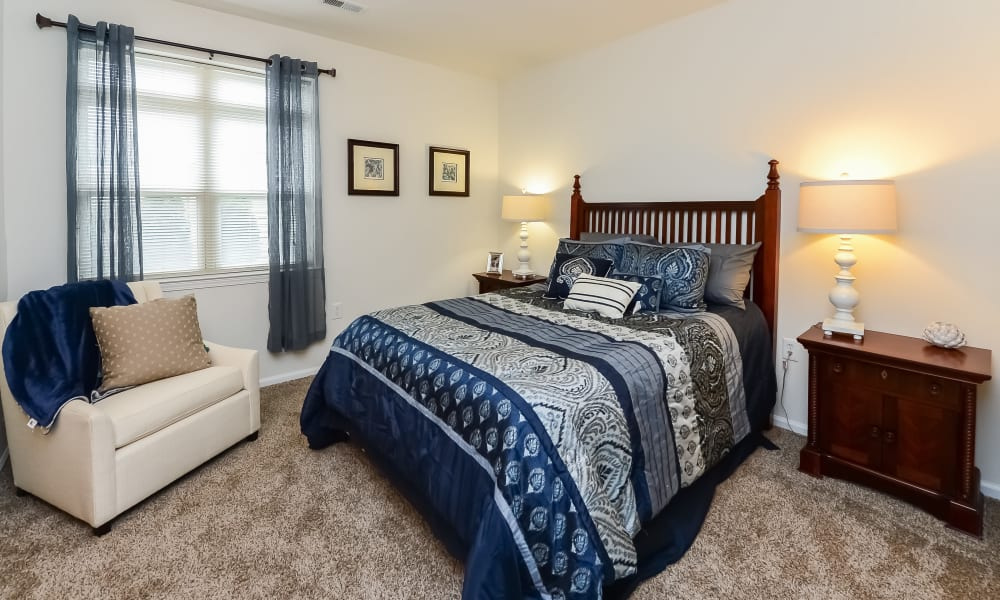 Bedroom at Bishop's View Apartments & Townhomes in Cherry Hill, New Jersey