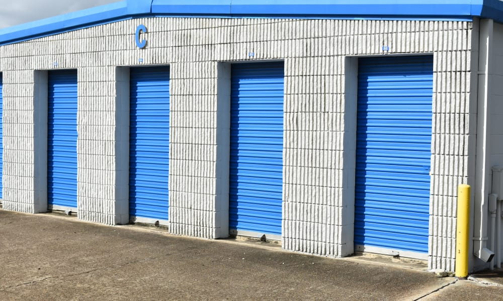 Many storage unit size options at AAA Alliance Self Storage in Houston, Texas